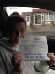 Molly passed with Caroline Driving Tuition