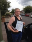 Jordan passed with Caroline Driving Tuition