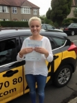 Megan passed with Caroline Driving Tuition