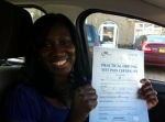 Sharlene passed with Caroline Driving Tuition