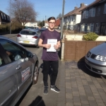Matthew Bunney passed with DB Driving School