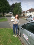 Olivia passed with DB Driving School