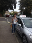 Tania Barrow passed with DB Driving School