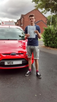 Well done Connor. Passed your driving test with probably one of the strictest driving examiners in Worcester. Good luck with your new job and Drive Safe!...