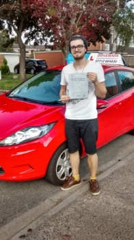 Well done Kieran passed your test first time today with only 3 minor faults. Nice one mate. Drive Safe!...