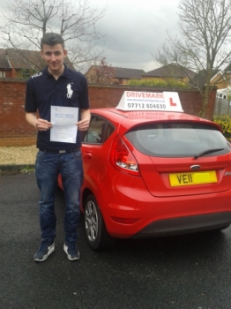 Well done Lewis on passing your driving test first time even in the pouring rain. Its been a pleasure to teach you, hopefully I'll see you driving around in your Peugeot very soon. Drive Safe mate!...