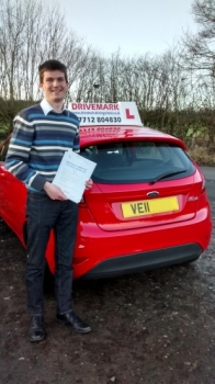 Congratulations Owen. Passed your driving test first time today. Well done mate and good luck with searching for your first car. Drive Safe!...