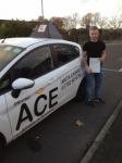 Anthony Brown passed with Driving Ace School Of Motoring