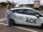 Ashleigh Dovener passed with Driving Ace School Of Motoring