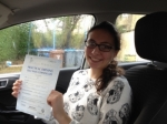 India Smith passed with Driving Ace School Of Motoring