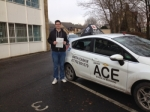 Jack Tarrant passed with Driving Ace School Of Motoring