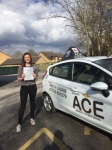 Jodie Varley passed with Driving Ace School Of Motoring