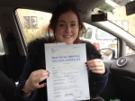 Megan Watson passed with Driving Ace School Of Motoring