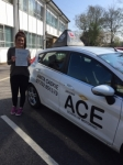 Tori Hitchen passed with Driving Ace School Of Motoring