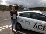 Cate Morn passed with Driving Ace School Of Motoring