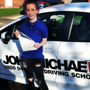 Another PASS! Well done Jasmine Yeomans, she's just smashed her test with me at blyth call us and be next on 0800 043 2242...