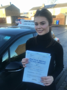 Amazing driving from Amberlie Shepard today, passed 1st time with our instructor Gavin Hudd and only 4 minors!...