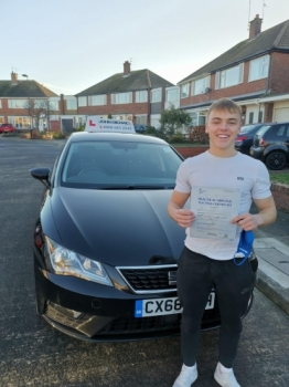 Great drive from Liam! He's just smashed his test at the first attempt with only 1 minor driving fault! Our last test of the year, 2020...