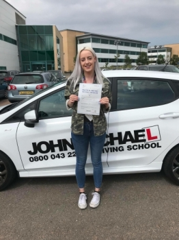 Amazing driving from Natasha Brown! She's just smashed her driving test at the 1st attempt and only had 2 minors!! Want to be next? Call us on 0800 043 2242 or visit johnmichaeldrivinglessons.co.uk and check us out 😀...