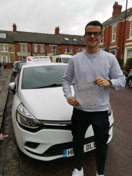 Great drive from John Ashton Davis today! He's just passed his driving test with his instructor Rob Stephenson with just a few minors! Well done John!!