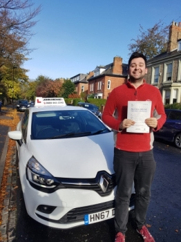 Amazing driving from Jodh Gutherie! He's just passed 1st time with his instructor Rob Stephenson at #gosforth with only 4 minors! Call us  on 0800 043 2242...