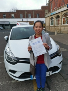 Amazing driving from Thora Phan today, She's just passed her driving test at the 1st attempt and only 5 minors with her instructor Rob Stephenson