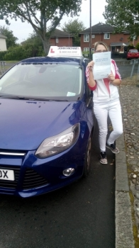 Great drive from Katherine Geinford today, she's just passed with our driving instructor Chris Stokoe Well done!
