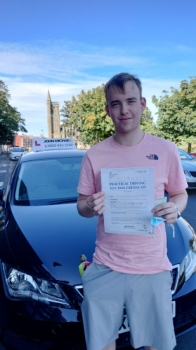 Impressive drive from Aaron Farrell today, he's just smashed his test first time with our instructor Rob Stephenson and only 1 Minor driving fault!