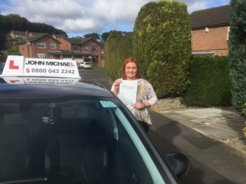 Congratulations Helen Brown, passed her test in Sunderland with just 5 minor faults, with her instructor Graham Spensley. Want to be next, call us 0800 043 2242 or visit http://www.johnmichaeldriving.co.uk...