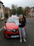 Ella passed at Gosforth on the 19/10/2017 passed with John Michael Driving School