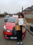 Katie passed with John Michael Driving School
