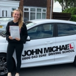 Lucy Iveson passed with John Michael Driving School