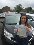 Chloe Thompson passed with John Michael Driving School