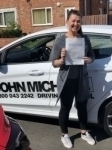 Anna Martin passed with John Michael Driving School