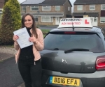 Megan passed with John Michael Driving School