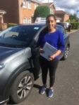 Aditi Kochhar passed with John Michael Driving School