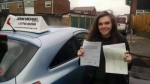 Shauna Roberts passed with John Michael Driving School