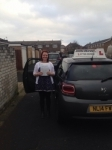Emma Hall passed with John Michael Driving school
