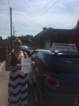 Kimberley Macdonald  passed with John Michael Driving school