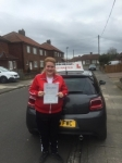 Lucy Hootson passed with John Michael Driving School