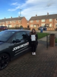 Sophie passed with John Michael Driving School