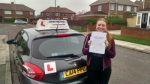 Stacy Warburton  passed with John Michael Driving School