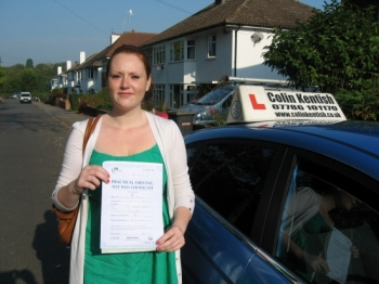 03 October 2011 - Kathryn passed 1st time with just 8 minor driving faults. Well done Kathryn, that was a really good result....