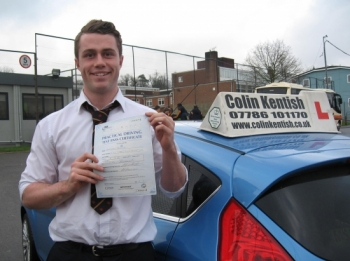 01 February 2013 - George passed 1st time with only 5 minor driving faults! Well done George, that was a really good result....
