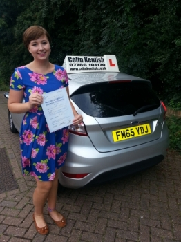01 September 2016 - Emily passed 1st time with only 4 minor driving faults! Well done Emily, that was an excellent result....