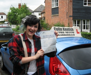 03 July 2012 - Beatrice passed first time with just 7 minor driving faults! Well done Bea, it took a while but you got there in the end. Fantastic result!...