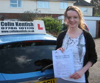 05 March 2012 - Lyndsey passed first time with only 4 minor driving faults! Well done Lyndsey, that was an excellent result.    'I wish to thank Colin for his patience and excellent teaching. I would recommend this driving school to anyone.'     Thank you for all your help,    Lyndsey...