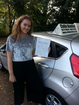 05 October 2017 - Amy passed 1st time with only 4 minor driving faults! Well done Amy, that was an excellent result....