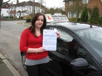 10 March 2011 - Vicky passed first time with just 2 minor driving faults. Well done Vicky, that was an excellent result....