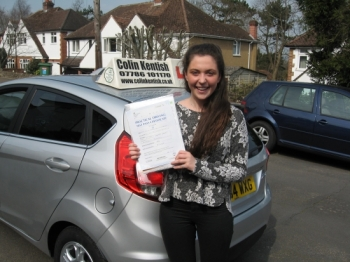 08 April 2015 - Ellen passed 1st time with only 2 minor driving faults! Well done Ellen, that was an excellent result....
